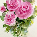 Bunch Of Three Roses And Buds by Asha Sudhaker Shenoy