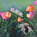 Bunnies In The Blooms by Nancy Lee Moran