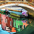 Burano Bridge Reflections by Harriet Feagin