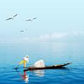Burma Myanmar Inle Lake Traditional by Banana Republic Images