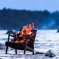 Burning Old Armchair On The Seashore by Anatoli Styf