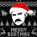Burt Reynolds Christmas Shirt by Filip Hellman