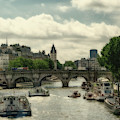Busy Morning On The Seine by Uri Baruch