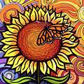 Butterfly Sunflower by David Sockrider