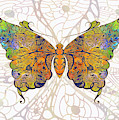 Butterfly Zen Meditation Abstract Digital Mixed Media Artwork By Omaste Witkowski by Omaste Witkowski