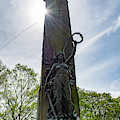 Buxton War Memorial Sun Behind by Scott Lyons