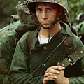 By An Unknown Photographer, August 3, 1965  Da Nang, Vietnam...a Young Marine Private Waits On The B by Celestial Images