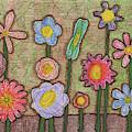 Caden's Folk Art Floral 3 by Amy E Fraser and Caden Fraser Perkins