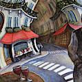 Cafe On Ile St Louis- Paris by Linda Mccluskey