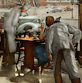 Cafe - Table For One 1941 by Mike Savad
