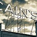 Cain's Ballroom Vintage Neon - Tulsa Oklahoma - Sepia by Gregory Ballos