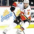 Calgary Flames V Anaheim Ducks by Harry How