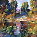 California Eucalyptus At The River by David Lloyd Glover