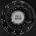 Call Home Vintage Phone Dial Square by Terry DeLuco