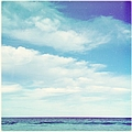 Calm Ocean With Cloudy Blue Sky by Jodie Griggs