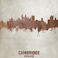 Cambridge England Rust Skyline by Michael Tompsett