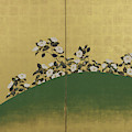 Camelias, Edo Period by Suzuki Kiitsu
