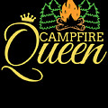 Campfire Queen Camping Caravan Camper Camp Tent by TeeQueen2603