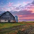 Canadian Sunrise On The Farm  by Harriet Feagin