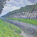 Canal In Flanders, Le Canal En Flandre Par Temps Triste, 1894 by Theo van Rysselberghe
