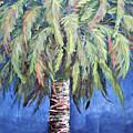 Canary Island Palm- Warm Blue I by Kristen Abrahamson
