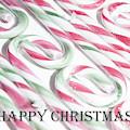 Candy Cane Swirls - Happy Christmas by Helen Northcott