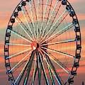 Capital Wheel Shining At Sunset  by Barbie Corbett-Newmin