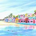 Capitola California Colorful Houses by Carlin Blahnik CarlinArtWatercolor