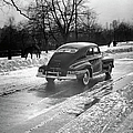 Car In The Snow by George Marks