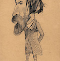 Caricature Of Auguste Vacquerie by Claude Monet