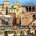Casa Dei Cavalieri Di Rodi At The Forum Of Augustus In Rome by John Rizzuto