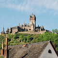 Castle At Cochem In Germany by Victor Lord Denovan