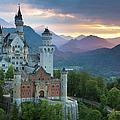 Castle Neuschwanstein With A Dramatic by Ingmar Wesemann