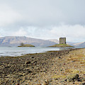 castle Stalker in late autumn by Victor Lord Denovan
