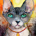 Cat Portrait My Name Is Adorable by Ginette Callaway