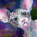Cat Portrait My Name Is Luna by Ginette Callaway