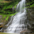 Cathedral Falls Flowing by Dan Sproul