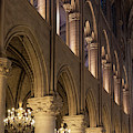 Cathedral Notre Dame Columns by Brian Jannsen