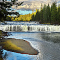 Cave Falls Yellowstone National Park by TL Mair