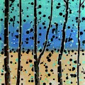 Celebration - Abstract Landscape  by Vesna Antic