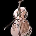Cello String Music Instrument Musician Color Designed by Super Katillz