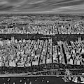 Central Park Nyc Aerial Bw by Susan Candelario