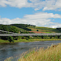 chainbridge over river Tweed at Melrose by Victor Lord Denovan