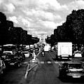 Champs Elysees And Arc De Triomphe by Chance Kafka