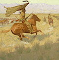 Change Of Ownership, The Stampede, Horse Thieves, 1903 by Frederic Remington