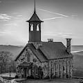 Chapel Of The Ozarks - Ridgdale Missouri 1x1 Monochrome by Gregory Ballos
