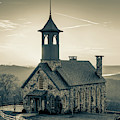 Chapel Of The Ozarks - Ridgedale Missouri 1x1 Sepia by Gregory Ballos