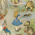 Characters From Alice In Wonderland  by John Tenniel