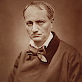 Charles Baudelaire, French Poet, Portrait Photograph  by Goupil