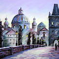 Charles Bridge  Prague by John Clark